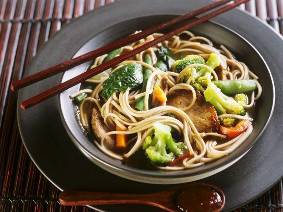 Asian Noodle Soup with Pork