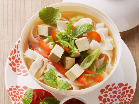 Asian Soup with Rice Noodles