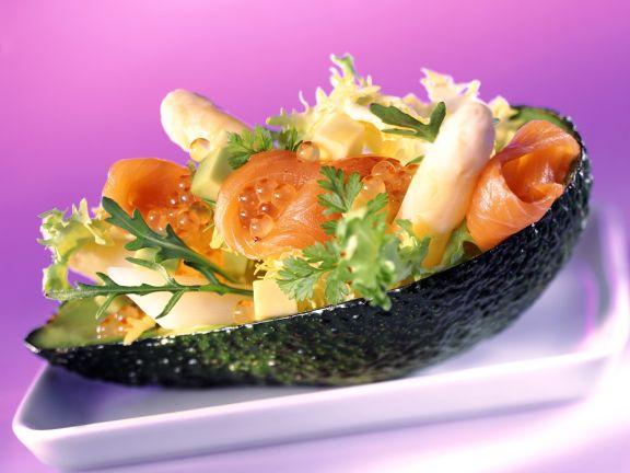 Asparagus and Avocado Salad with Gravlax