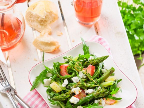 Asparagus and Rhubarb Salad