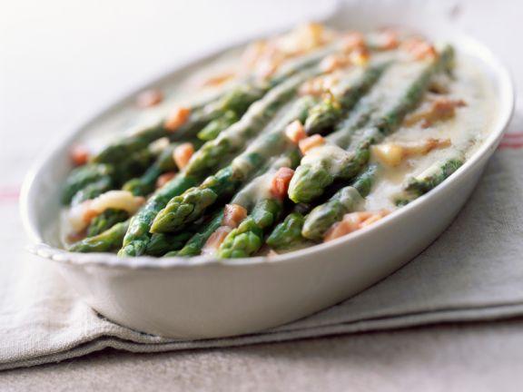 Asparagus Gratin with Bacon