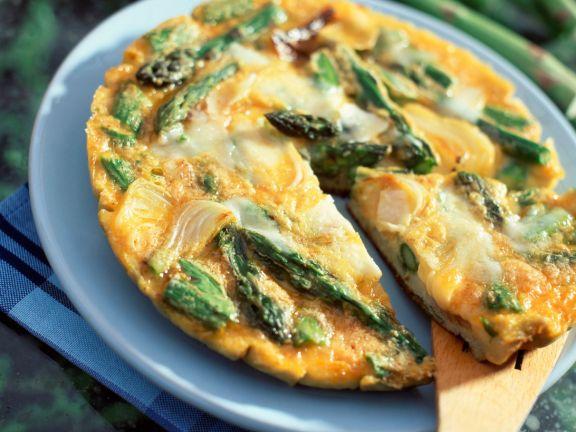 Asparagus Open-face Omelette