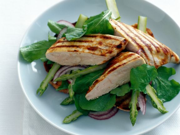 Asparagus Salad with Chicken Breast