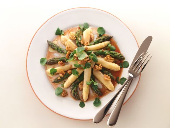 Asparagus Salad with Watercress and Walnut Dressing