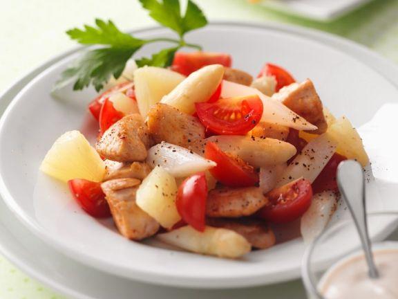 Asparagus, Turkey and Tomato Salad