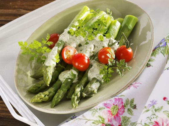 Asparagus with Herb Yogurt Dressing