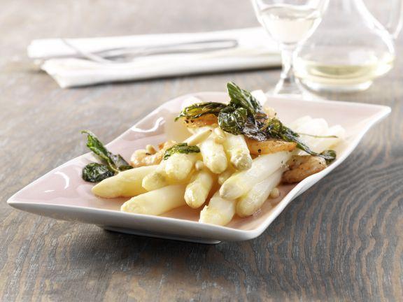 Asparagus with Shrimp and Basil