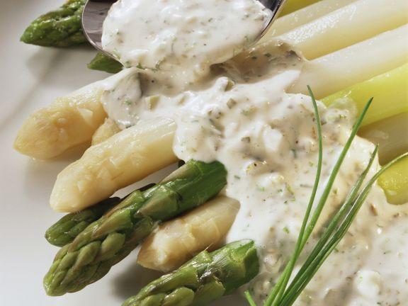 Asparagus with Tartar Sauce