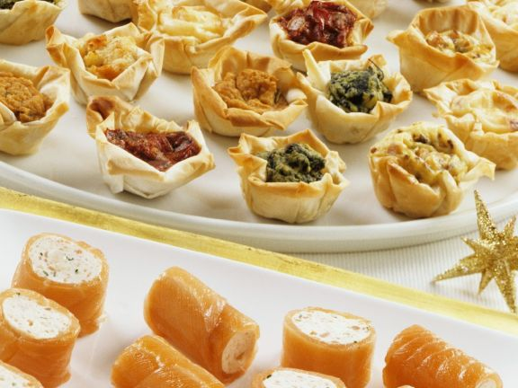 Assorted Canapes with Phyllo