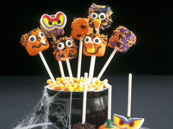 Assorted Scary Face Pops