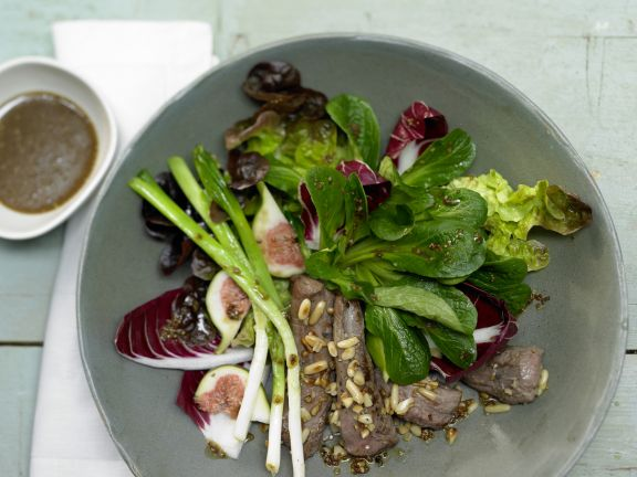 Autumn Salad with Lamb Fillet