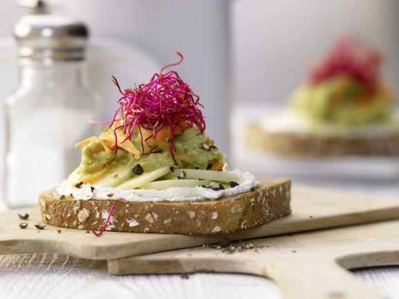 Avocado and Cream Cheese Bread