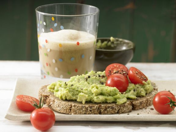 Avocado Cream on Whole-Wheat Bread