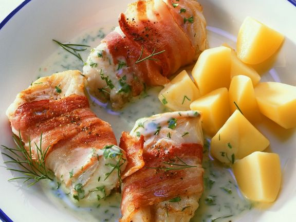 Bacon Wrapped Cod Fillets