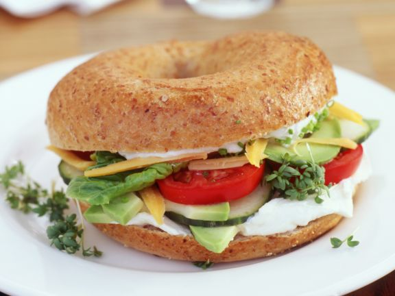 Bagel with Avocado and Cream Cheese