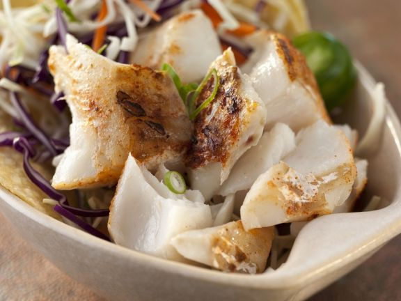 Baja Fish Tacos with Cabbage
