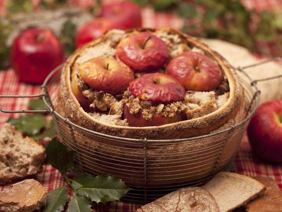 Baked Apples in Bread