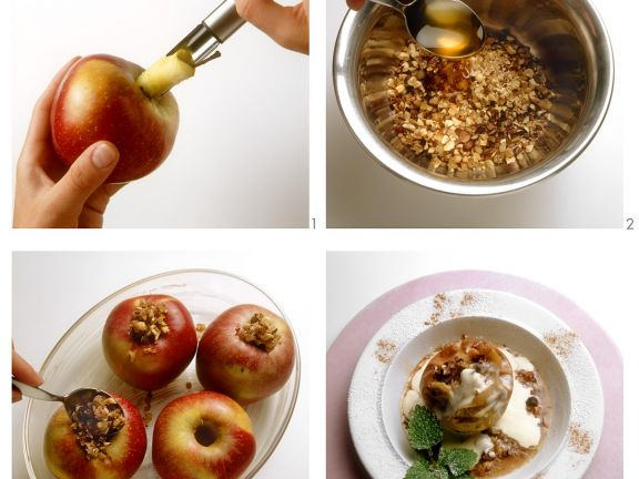Baked Apples with Candied Ginger