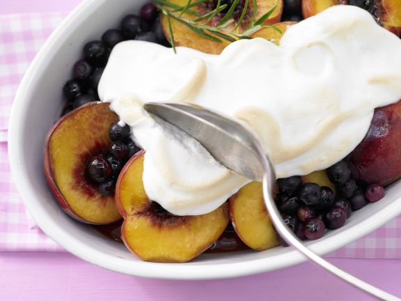 Baked Blueberries and Peaches