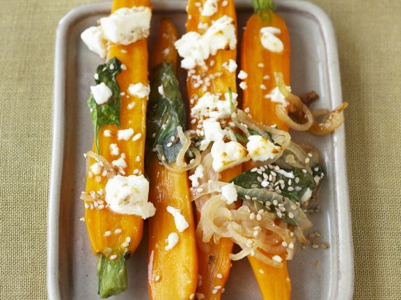 Baked Carrots with Feta Cheese