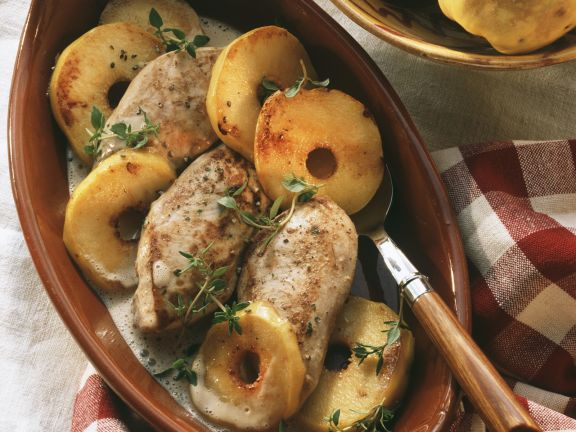 Baked Chicken Breasts with Quince