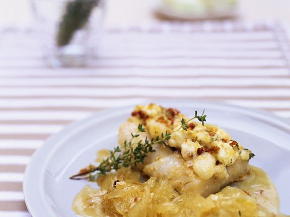 Baked Cod with Caramelized Onions
