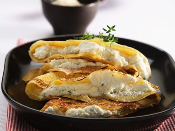 Baked Crepes with Herbed Ricotta and Parmesan
