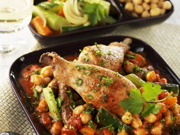 Baked Drumsticks with Country Vegetables