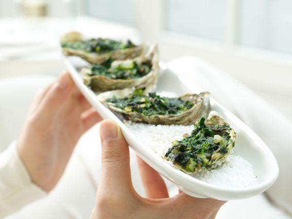 Baked Oysters a La Rockefeller