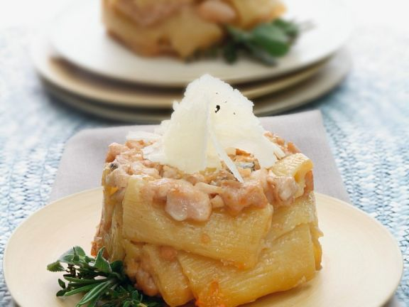 Baked Pasta with Ragout of Rabbit