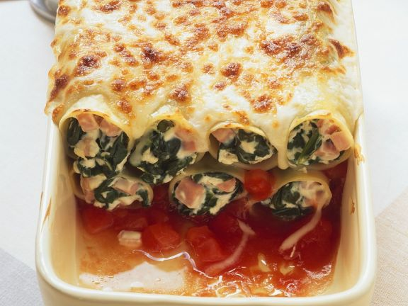 Baked Pasta with Spinach