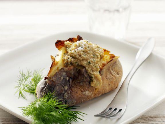 Baked Potato with Amaranth Stuffing
