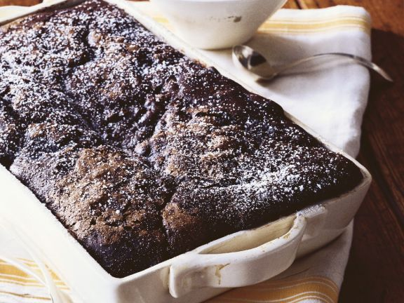 Baked Rich Chocolate Pudding