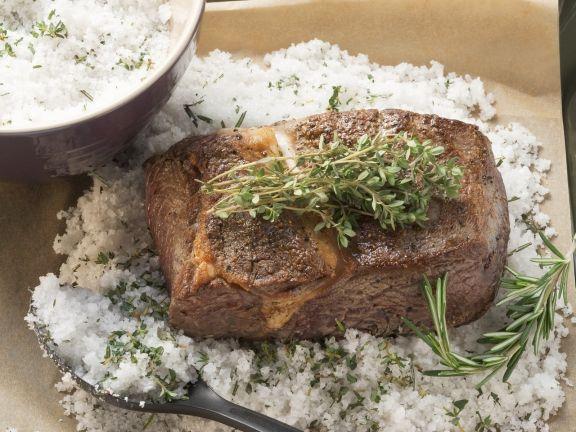 Baked Roast Beef in a Salt Crust
