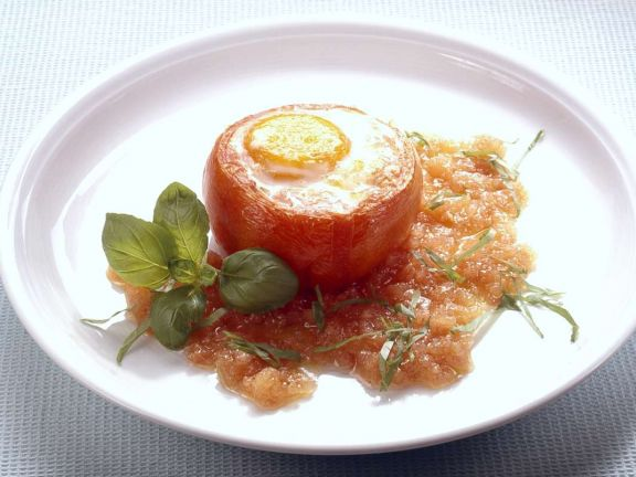 Baked Tomato with Egg