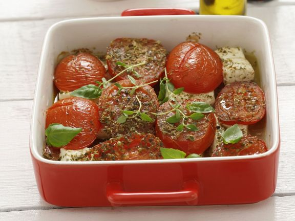 Baked Tomatoes with Feta Cheese
