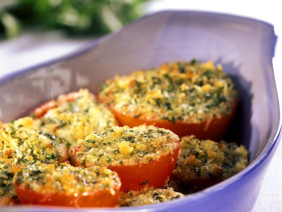 Baked Tomatoes with Herb Breadcrumbs