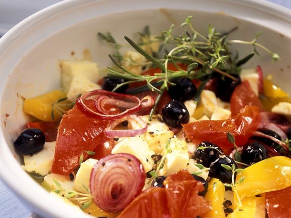 Baked Vegetables with Feta and Olives