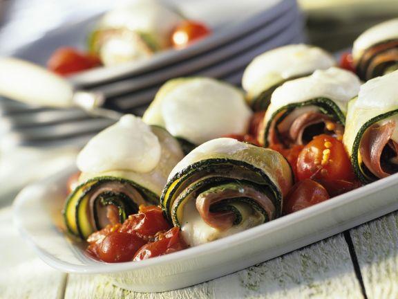 Zucchini and Ham Wraps