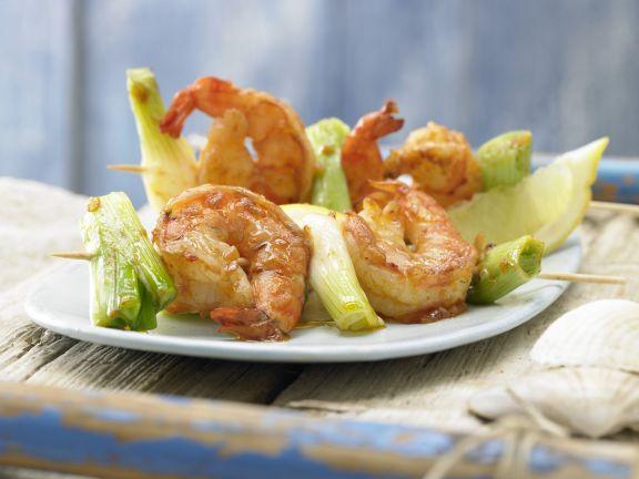 Barbecued Shrimp Skewers