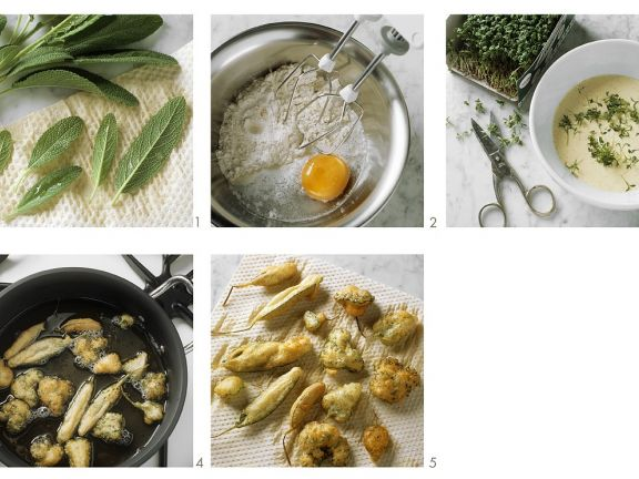Battered and Fried Herbs