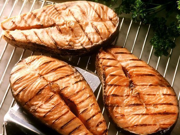 BBQ Salmon Steaks