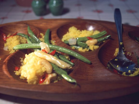 Bean and Saffron Couscous