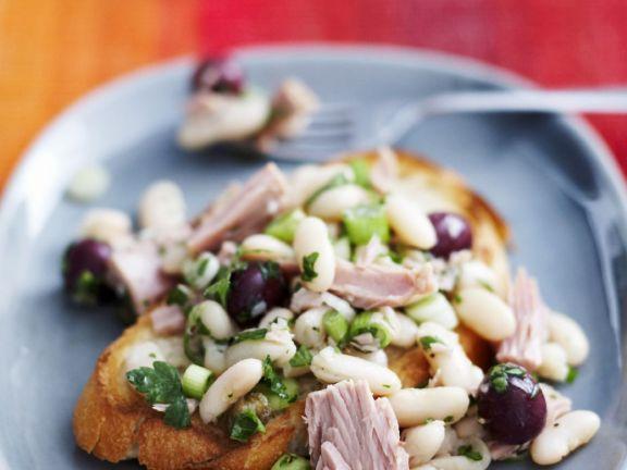 Bean and Tuna Bruschetta