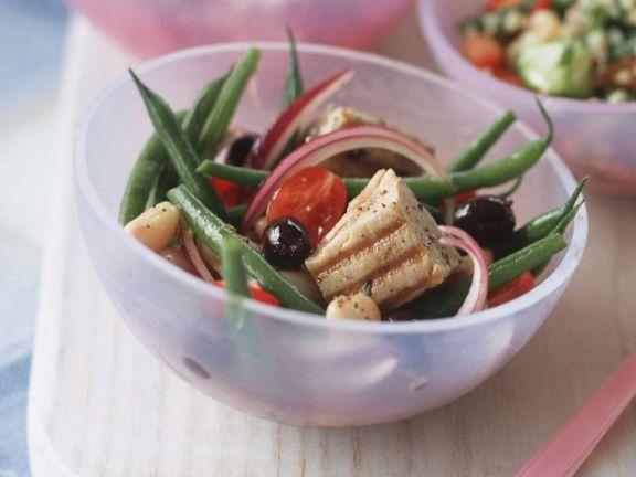 Bean Salad with Fresh Grilled Tuna