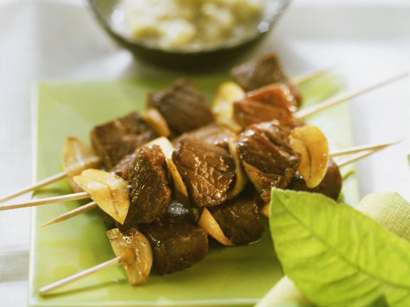 Beef and Onion Skewers