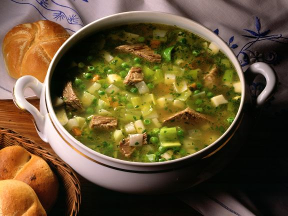 Beef and Pea Soup