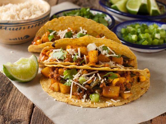 Beef and Poblano Chili Tacos