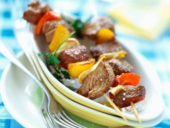 Beef Kebabs with and Peppers