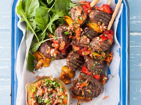 Beef Kebabs with Chumichurri